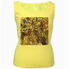 Zentangle Mix 1216c Women s Yellow Tank Top