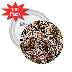 Zentangle Mix 1216c 2.25  Buttons (100 pack)