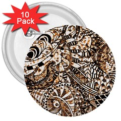 Zentangle Mix 1216c 3  Buttons (10 pack)
