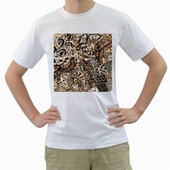 Zentangle Mix 1216c Men s T-Shirt (White) (Two Sided)