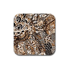 Zentangle Mix 1216c Rubber Square Coaster (4 pack)