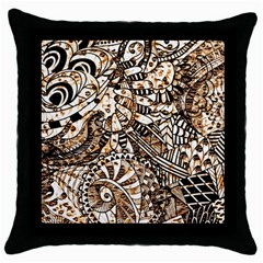 Zentangle Mix 1216c Throw Pillow Case (Black)