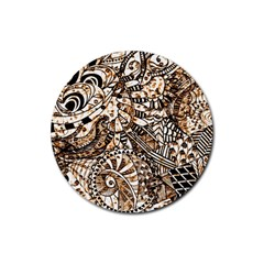 Zentangle Mix 1216c Rubber Round Coaster (4 pack)