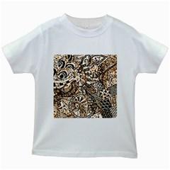 Zentangle Mix 1216c Kids White T-Shirts