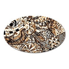 Zentangle Mix 1216c Oval Magnet