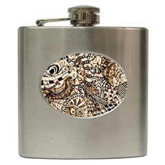 Zentangle Mix 1216c Hip Flask (6 oz)