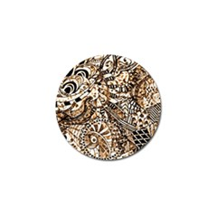 Zentangle Mix 1216c Golf Ball Marker