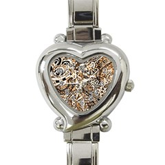 Zentangle Mix 1216c Heart Italian Charm Watch