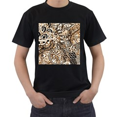 Zentangle Mix 1216c Men s T-Shirt (Black) (Two Sided)