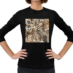 Zentangle Mix 1216c Women s Long Sleeve Dark T-Shirts