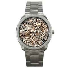 Zentangle Mix 1216c Sport Metal Watch