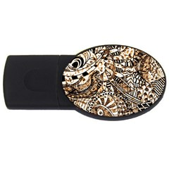 Zentangle Mix 1216c USB Flash Drive Oval (4 GB)