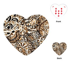 Zentangle Mix 1216c Playing Cards (Heart)