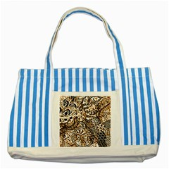 Zentangle Mix 1216c Striped Blue Tote Bag