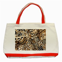 Zentangle Mix 1216c Classic Tote Bag (Red)
