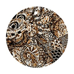 Zentangle Mix 1216c Round Ornament (Two Sides)