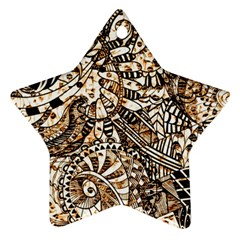 Zentangle Mix 1216c Star Ornament (Two Sides)