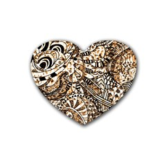 Zentangle Mix 1216c Rubber Coaster (Heart)