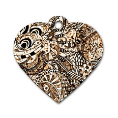 Zentangle Mix 1216c Dog Tag Heart (One Side)