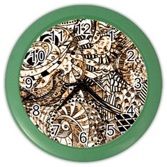Zentangle Mix 1216c Color Wall Clocks