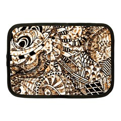 Zentangle Mix 1216c Netbook Case (Medium)