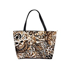 Zentangle Mix 1216c Shoulder Handbags