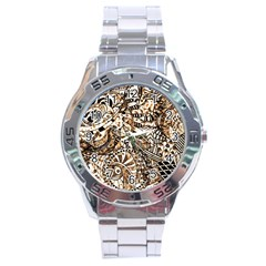 Zentangle Mix 1216c Stainless Steel Analogue Watch
