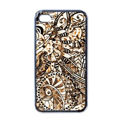 Zentangle Mix 1216c Apple iPhone 4 Case (Black)