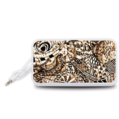Zentangle Mix 1216c Portable Speaker (White)