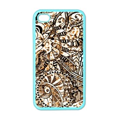 Zentangle Mix 1216c Apple iPhone 4 Case (Color)