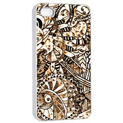 Zentangle Mix 1216c Apple iPhone 4/4s Seamless Case (White)