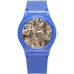Zentangle Mix 1216c Round Plastic Sport Watch (S)