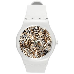 Zentangle Mix 1216c Round Plastic Sport Watch (M)