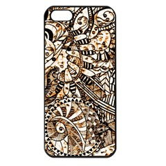 Zentangle Mix 1216c Apple iPhone 5 Seamless Case (Black)