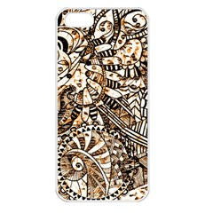Zentangle Mix 1216c Apple iPhone 5 Seamless Case (White)