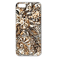 Zentangle Mix 1216c Apple Seamless iPhone 5 Case (Clear)