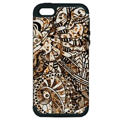 Zentangle Mix 1216c Apple iPhone 5 Hardshell Case (PC+Silicone)