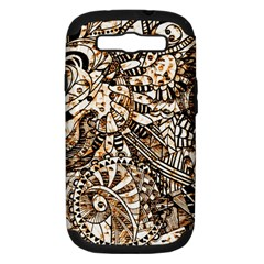 Zentangle Mix 1216c Samsung Galaxy S III Hardshell Case (PC+Silicone)