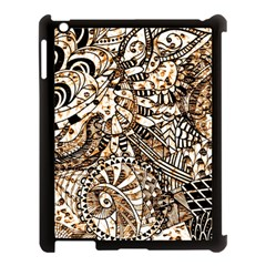 Zentangle Mix 1216c Apple iPad 3/4 Case (Black)
