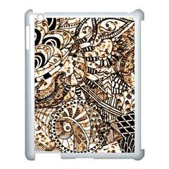 Zentangle Mix 1216c Apple iPad 3/4 Case (White)