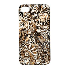 Zentangle Mix 1216c Apple iPhone 4/4S Hardshell Case with Stand