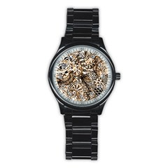 Zentangle Mix 1216c Stainless Steel Round Watch