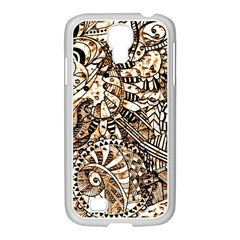 Zentangle Mix 1216c Samsung GALAXY S4 I9500/ I9505 Case (White)