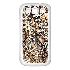 Zentangle Mix 1216c Samsung Galaxy S3 Back Case (White)