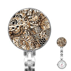 Zentangle Mix 1216c Stainless Steel Nurses Watch