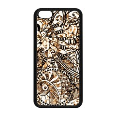 Zentangle Mix 1216c Apple iPhone 5C Seamless Case (Black)