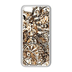 Zentangle Mix 1216c Apple iPhone 5C Seamless Case (White)