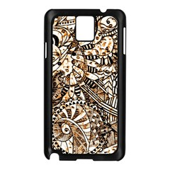 Zentangle Mix 1216c Samsung Galaxy Note 3 N9005 Case (Black)