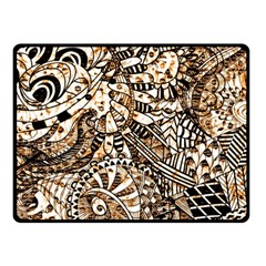 Zentangle Mix 1216c Double Sided Fleece Blanket (Small)