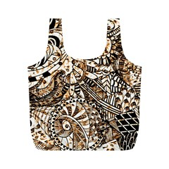 Zentangle Mix 1216c Full Print Recycle Bags (M)